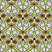 Green Sugar Skull Sphynx CHEVRONS
