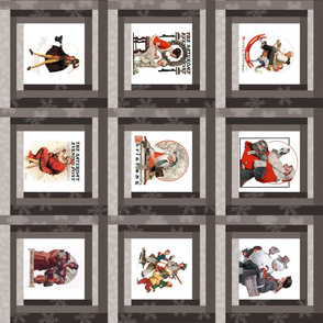 Norman Rockwell Cheater's quilt