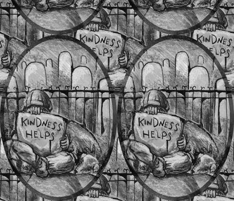 kindness helps fabric by jennifurryrabbit on Spoonflower - custom fabric