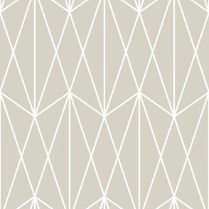 Diamond Grid - Beige