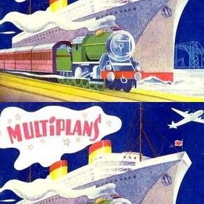vintage retro kitsch trains ships airplanes planes nautical aviation transportation jets railway vehicles sea ocean sailing aircraft