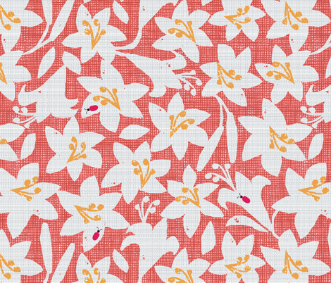 scarlet lily beetles fabric by ottomanbrim on Spoonflower - custom fabric