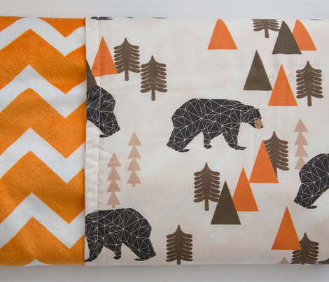bear // forest woodland camping trees outdoors boys design