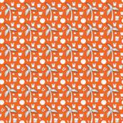 tropical pattern orange
