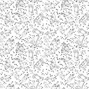 constellations // mini constellation animals fabric new constellation animals design
