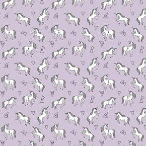 unicorn // lavender mini tiny version purple unicorn girls sweet unicorn fabric
