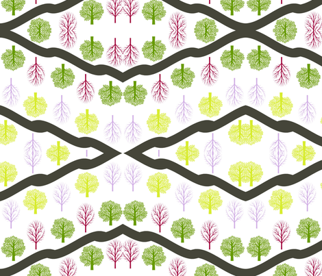 Hiking in the Woods fabric by amy29 on Spoonflower - custom fabric