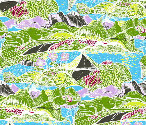 Hiking Through My Imagination fabric by rhondadesigns on Spoonflower - custom fabric