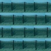 Fence Border Aqua