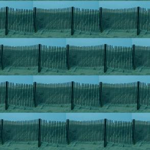 Beach Fence Quilt Border Aqua