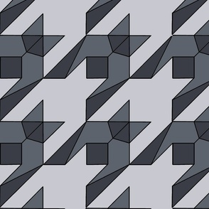 graphic houndstooth in grey
