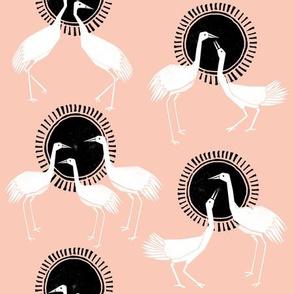 Cranes - Pink by Andrea Lauren