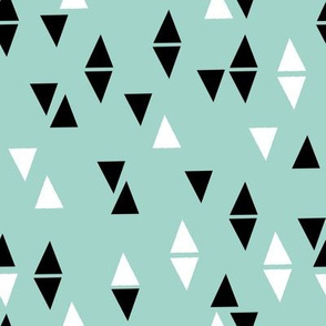 Triangle Coordinates - Pale Turquoise by Andrea Lauren