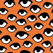 Eyes - Orange by Andrea Lauren