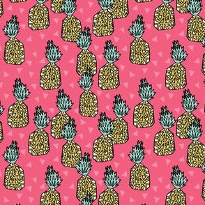 Pineapple - Pink (Small Version) by Andrea Lauren