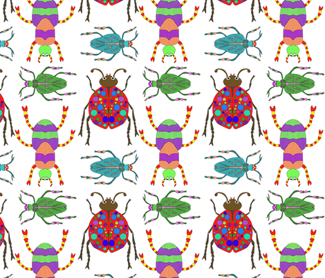 Beetles fabric by linsart on Spoonflower - custom fabric