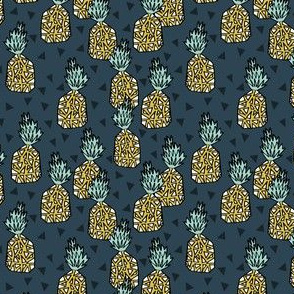 Pineapple  - Parisian Blue (Small Version) by Andrea Lauren