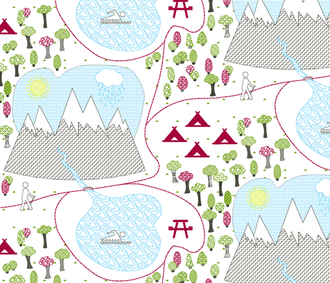 Trail Map fabric by nicolle on Spoonflower - custom fabric
