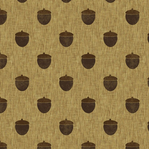 Acorns on burlap