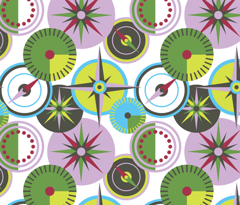 Compass Geometric fabric by bojudesigns on Spoonflower - custom fabric
