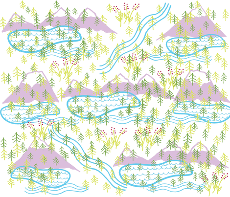 take a hike fabric by bishopart on Spoonflower - custom fabric