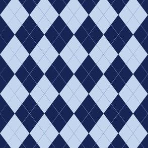 Argyle - Blue