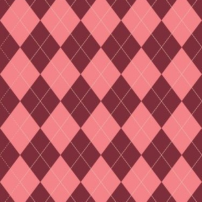 Argyle - Red