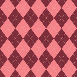 Argyle - Red