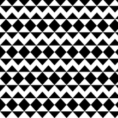 Modernist Argyle ~ Black and White