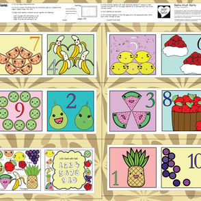 Counting with Fruit - A Retro Fruit Party!