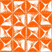 studs orange on white