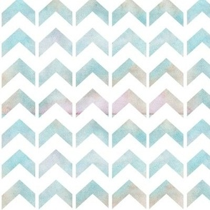 blue watercolour chevron