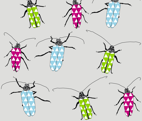 Huhu Beetles fabric by smuk on Spoonflower - custom fabric