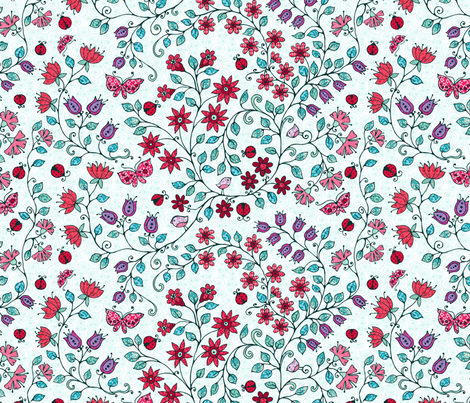 ladybug fabric by kirpa on Spoonflower - custom fabric