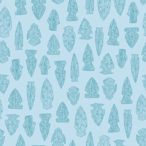 arrowheads in blue