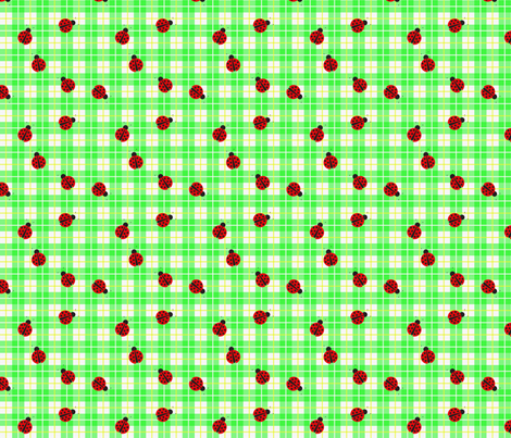 Ladybug_smaller_plaid fabric by mammajamma on Spoonflower - custom fabric