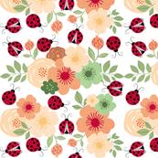 Ladybug Floral Print