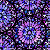 Painted Rose Windows (Purple - Large)