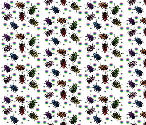 beetles fabric by jazzeira on Spoonflower - custom fabric