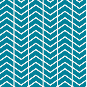 chevron stripe Fleur Blue and white