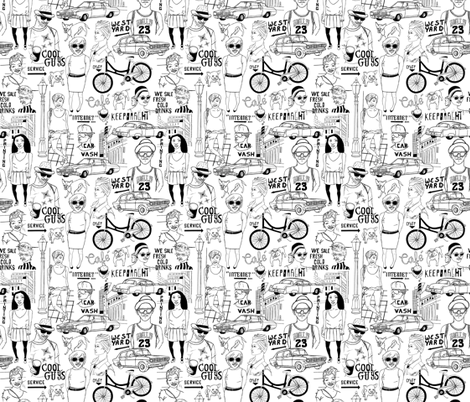 street view fabric by mirabelleprint on Spoonflower - custom fabric