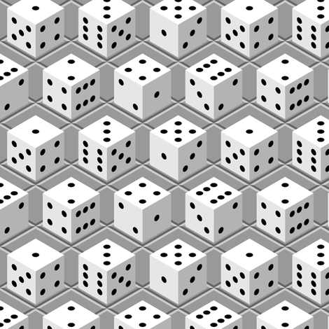 D6 dice x 6 tiled