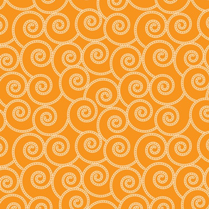 orange stitch spiral pattern