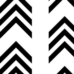 Large Chevrons Black and White