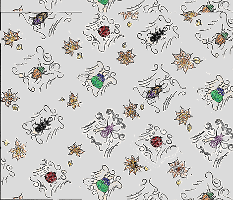 Beetles fabric by samtex on Spoonflower - custom fabric