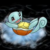 Squirtle Black Background