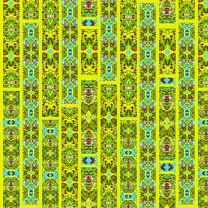 Stained Glass Jungle Yellow