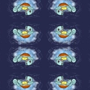 Squirtle Navy Blue background