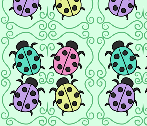 ladybugs fabric by cozyreverie on Spoonflower - custom fabric