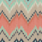 Large Scale Ikat Chevron